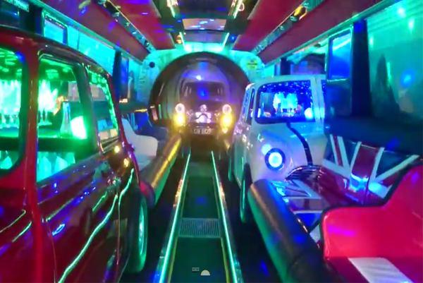 Italian Job party bus