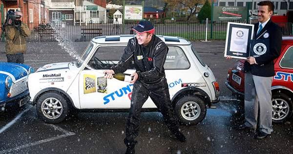 Moffat Parallel parking his Mini